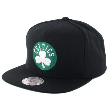 Mitchell & Ness Boston Celtics Wool Solid Snapback Hat Black