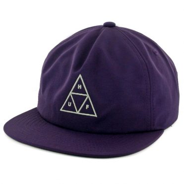 HUF Triple Triangle Snapback Hat Purple