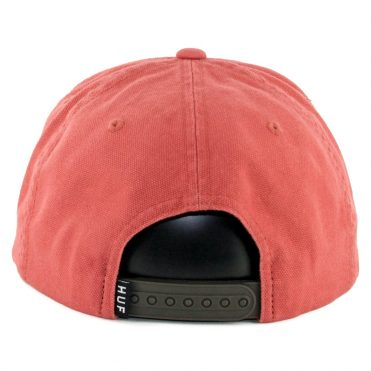 HUF Wash Canvas Box Logo Snapback Hat Nautical Red