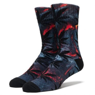 HUF Outdoor Plantlife Crew Socks Lava Red