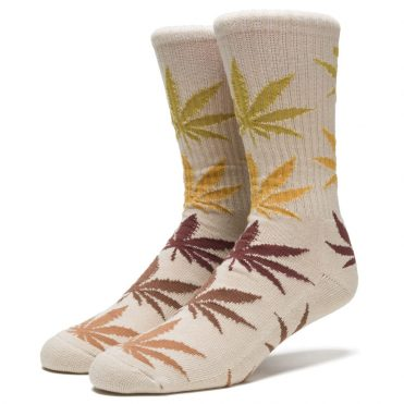 HUF Fader Plantlife Crew Socks Natural