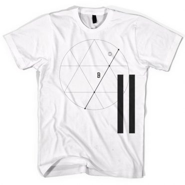 Black Scale Tres Angulos T-Shirt White
