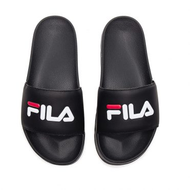 FILA Drifter Slides Black Fila Red White