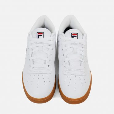 FILA Original Fitness Logo Shoe White Navy Fila Red