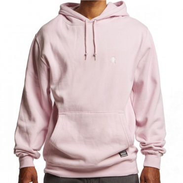 Grizzly OG Bear Embroidered Pullover Hooded Sweatshirt Pink