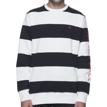 HUF Catalina Stripe Crew Fleece Sweatshirt Black