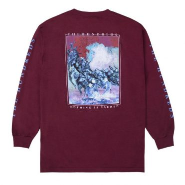 The Hundreds Nothing Is Sacred Long Sleeve Burgundy