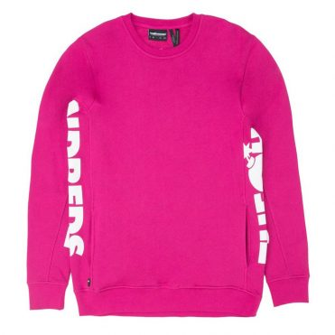 The Hundreds Sidewinder Crewneck Sweatshirt Fuchsia