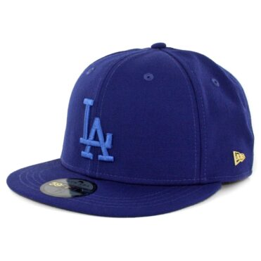 New Era 59Fifty Los Angeles Dodgers Essential Fitted Hat Dark Royal