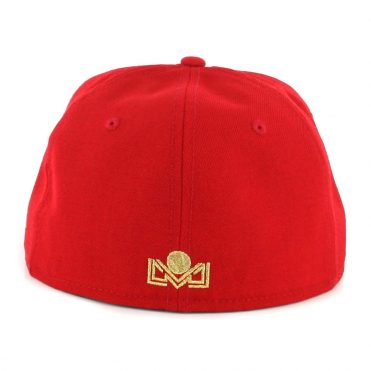 New Era 59Fifty Aguilas de Mexicali Campeones Fitted Hat Scarlet Gold
