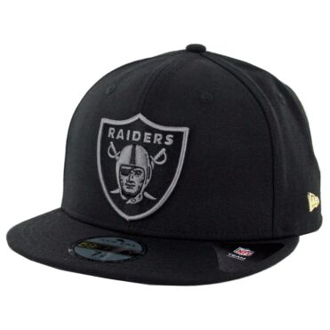 New Era 59Fifty Oakland Raiders Essential Fitted Hat Black