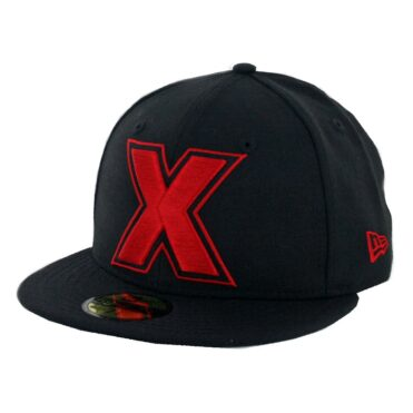 "New Era 59Fifty Tijuana Xolos ""X"" Logo Fitted Hat Black Red"