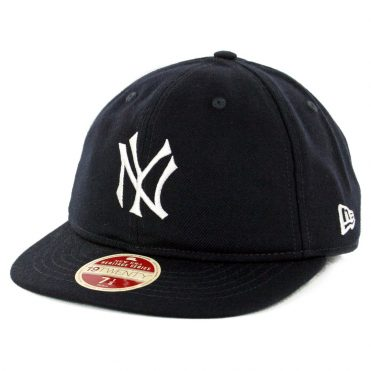 New Era 59Fifty New York Yankees Vintage Wool Classic Fitted Hat Dark Navy