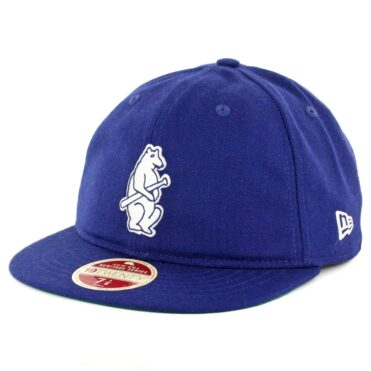 New Era 59Fifty Chicago Cubs Vintage Wool Classic Fitted Hat Royal