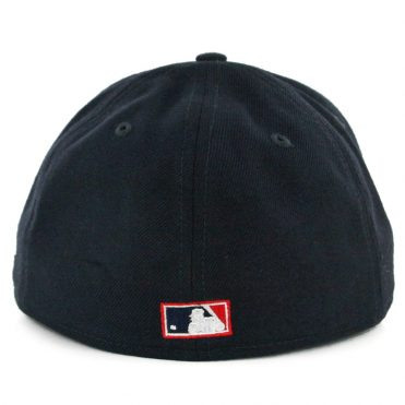New Era 59Fifty Cleveland Indians Vintage Wool Classic Fitted Hat Dark Navy