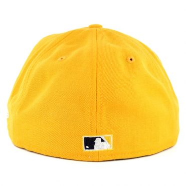 New Era 59Fifty Pittsburgh Pirates Vintage Wool Classic Fitted Hat Yellow