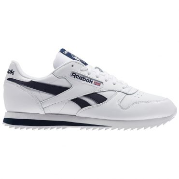 Reebok CL Leather Ripple Low BP Shoe  White Collegiate Navy