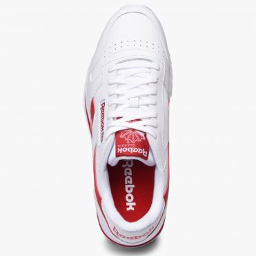 Reebok CL Leather Ripple Low BP Shoe White Excellent Red