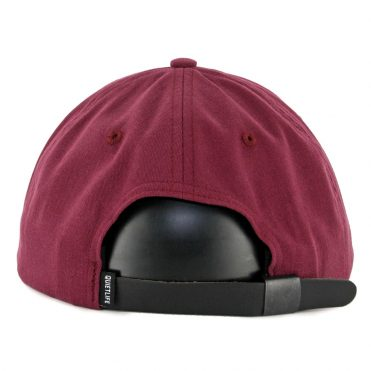 The Quiet Life Cursive Polo Strapback Hat Burgundy