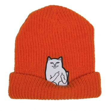 Rip N Dip Lord Nermal Ribb Beanie Safety Orange