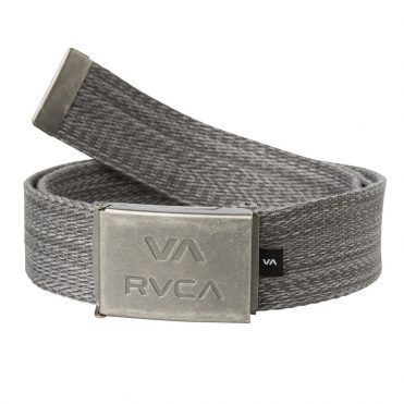 RVCA Va All The Way Web Belt Charcoal Heather