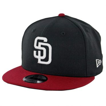 New Era 9Fifty San Diego Padres Snapback Hat Black Cardinal White