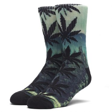 HUF Digital Plantlife Crew Socks Evergreen