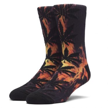 HUF Digital Plantlife Crew Socks Hot Fire