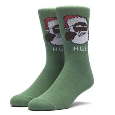 HUF December Dudes Series Socks Green