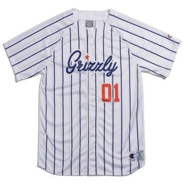 Grizzly x Champion Out Of Left Field Jersey White