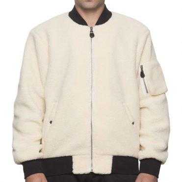 HUF Sherpa Bomber Jacket Natural