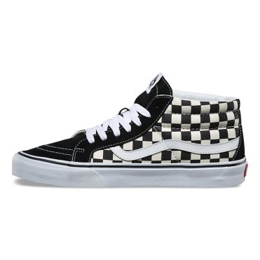 Vans Sk8-Hi Mid Reissue Shoe Checkerboard True White