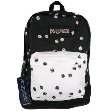 JanSport Black Label Superbreak Back Pack Roll of Dice