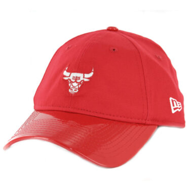 New Era 9Twenty Chicago Bulls Scarlet Hook Strapback Hat Scarlet Red