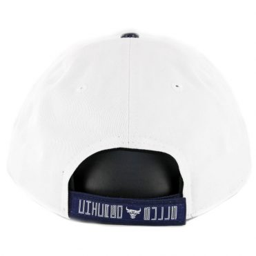 New Era 9Twenty Chicago Bulls Retro Hook Strapback Hat White Navy