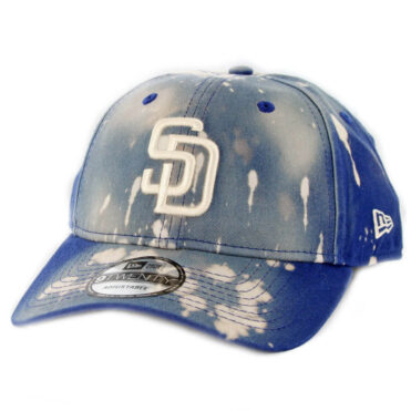 New Era 9Twenty San Diego Padres Bleached Out Strapback Hat Light Royal