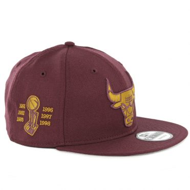New Era 9Fifty Chicago Bulls Snapback Hat Maroon