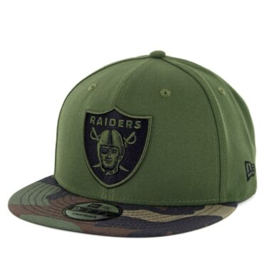 New Era 9Fifty CTO Oakland Raiders Snapback Hat Rifle Green Woodland Camo