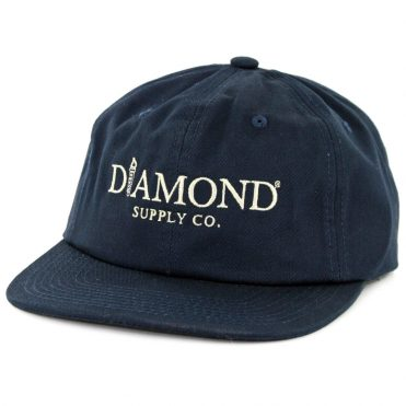 Diamond Supply Co Mayfair Unconstructed Strapback Hat Navy