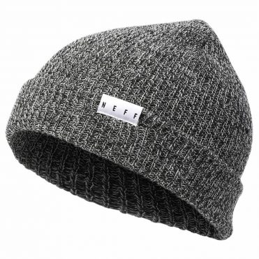 Neff Fold Black & White Heather Beanie