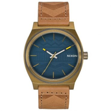 Nixon Time Teller Watch Brass Navy Hickory