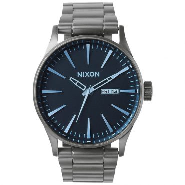 Nixon Sentry SS Watch Gunmetal Blue Crystal