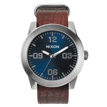 Nixon Corporal Watch Brown Blue Sunray
