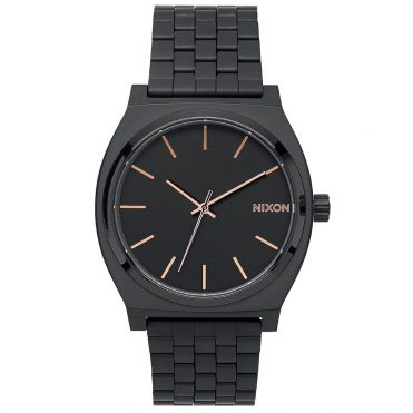 Nixon Time Teller Watch Black Rose Gold