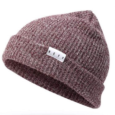 Neff Fold Heather Beanie Port White