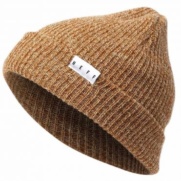 Neff Fold Heather Beanie Brown Twill