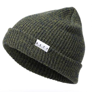 Neff Fold Heather Beanie Olive Navy