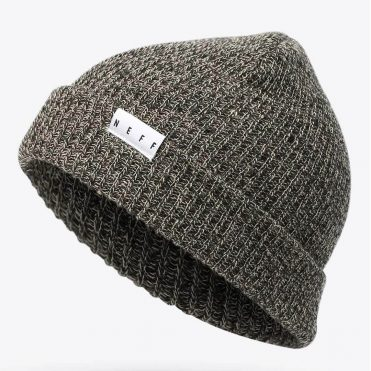 Neff Fold Heather Beanie Twill Black