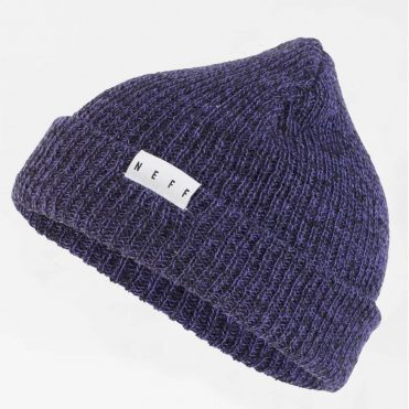 Neff Fold Heather Beanie Purple Black