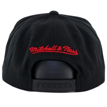 Mitchell & Ness Chicago Bulls Easy 3 Digital XL Snapback Hat Black